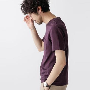 <ナノ・ユニバース>Anti Soaked ヘビークルーネックTシャツ