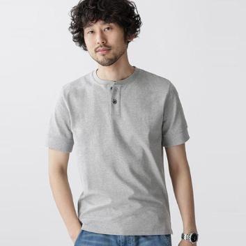<ナノ・ユニバース>Anti Soaked ヘビーヘンリーネック Tシャツ