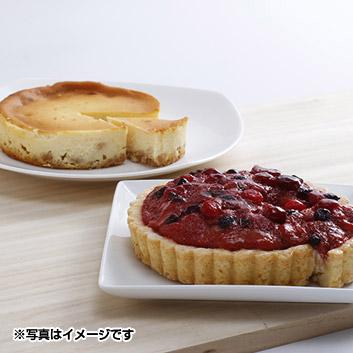 「乳蔵」ベイクドチーズケーキとタルトセット