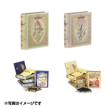 BASILUR TEA◆ミニブック缶4缶セット