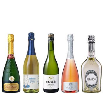 【送料無料】A-styleソムリエが選んだ、スパークリングワイン5本セット(2020)