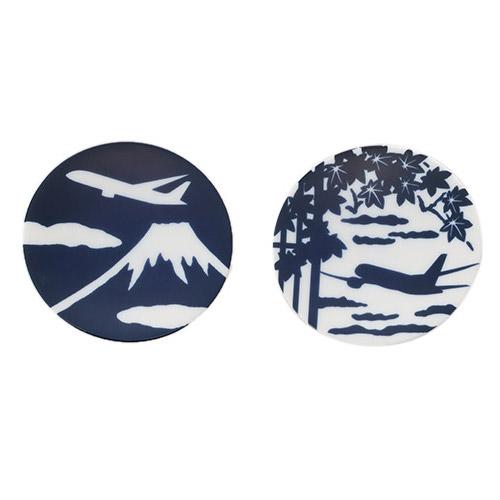 <ANAオリジナル>かまわぬ for ANA 豆皿(2枚セット・富士山&もみじ)