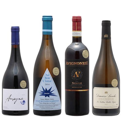 【送料無料】2019年度機内ワイン ファーストクラス赤白4本セット