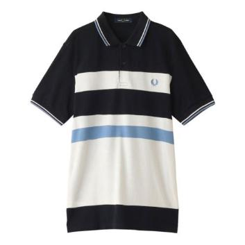 <フレッドペリー>BLOCK STRIPE POLO SHIRT