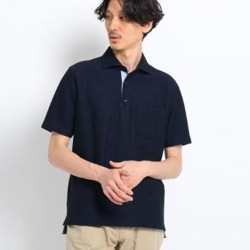 <タケオキクチ>フレポロ メランジハニカムポロシャツ