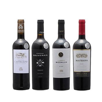 【送料無料】2019年度機内ワイン ビジネスクラス赤ワイン4本セット