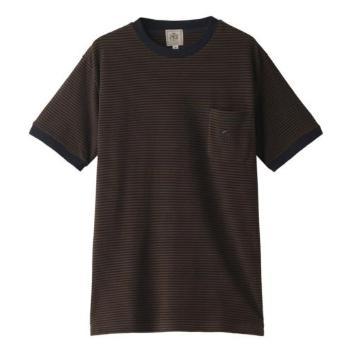 <Jプレス>アメリカンコットン鹿の子ボーダーTシャツ