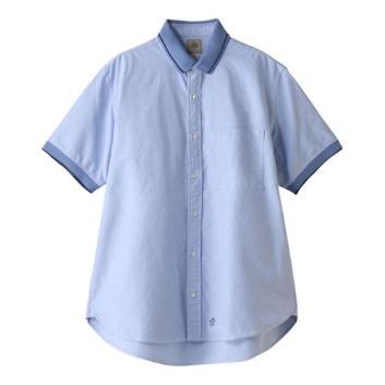 <Jプレス>オックスx鹿の子ポロカラーシャツ