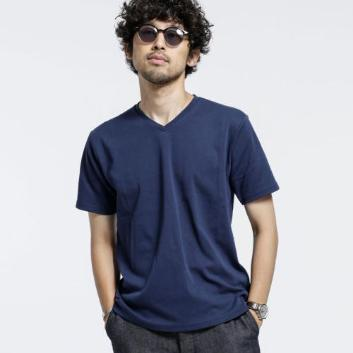 <ナノ・ユニバース>【Anti Smell】 VネックTシャツ 半袖