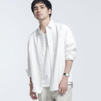 <ナノ・ユニバース>【WHITENING LAB】  レギュラーワイドシャツ