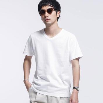 <ナノ・ユニバース>【WHITENING LAB】 VネックTシャツ