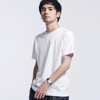 <ナノ・ユニバース>【WHITENING LAB】 クルーネックTシャツ