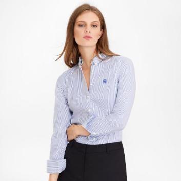 <ブルックス ブラザーズ>ノンアイロン GF ストレッチコットン ストライプ ボタンダウンシャツ Tailored Fit