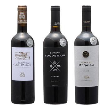 2019年度機内ワイン ビジネスクラス赤ワイン3本セット