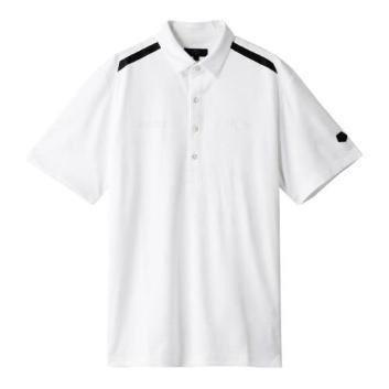 <キャロウェイアパレル>【吸汗速乾】【UPF30】雲柄ジャカードポロシャツ