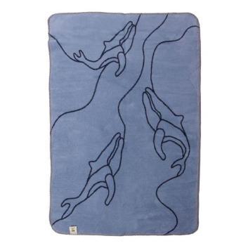 <ファブラスグース>ブランケット(大判サイズ)クジラ ブルー/ネイビー