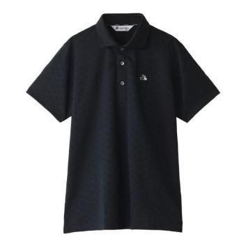 <ブラックアンドホワイト>【吸水速乾】【UVプロテクト】ワッフルサッカークラウンシャツ