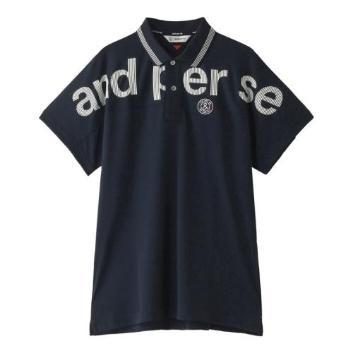 <アンパスィ>【吸水速乾】【UVケア】ロゴポロシャツ
