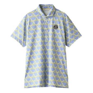 <アンパスィ>【吸水速乾】【UVケア】プリントポロシャツ