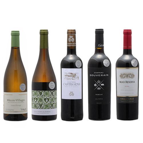 【送料無料】2019年度機内ワイン ビジネスクラス赤白5本セット