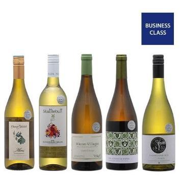 【送料無料】2019年度機内ワイン ビジネスクラス白ワイン5本セット