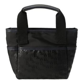 <ブラックアンドホワイト>ロゴカートバッグ