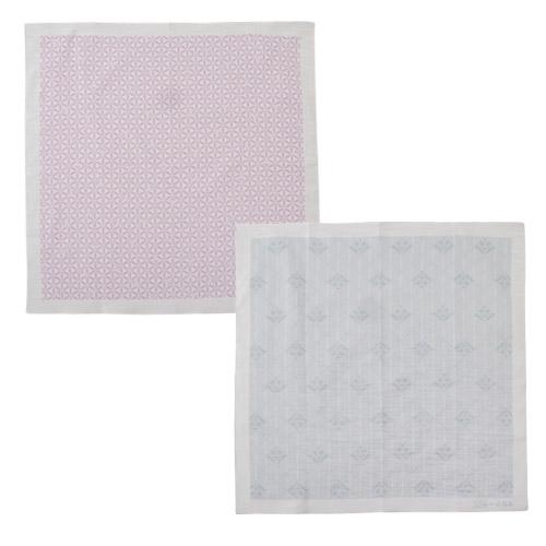 <ANAオリジナル>かまわぬ for ANA ハンカチ(2枚1セット・藤色&薄灰色)