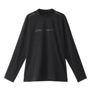 <キャロウェイアパレル>【吸汗速乾】【UPF30】雲柄ジャカードハイネックシャツ