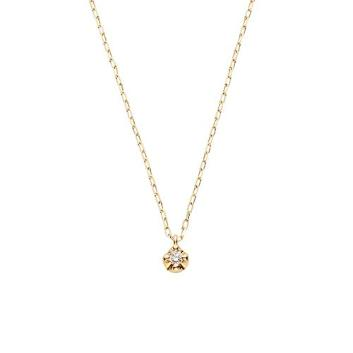 <VAヴァンドーム青山>K10YG ダイヤモンドネックレス