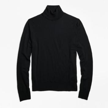 <ブルックス ブラザーズ>ウォッシャブルメリノウール タートルネックセーター