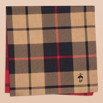 <ブルックス ブラザーズ>Red Fleece コットン 2パネルプラッドプリント ハンカチ