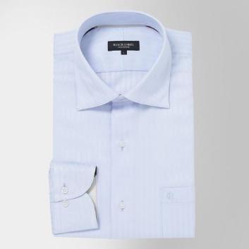 <ブラックレーベル・クレストブリッジ>【イージーケア】ハイストレッチシャドーストライプセミワイドカラーシャツ
