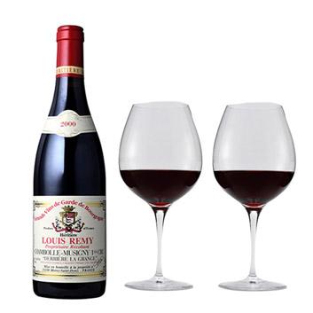 【送料無料】2000年!バックヴィンテージ赤ワインとペアグラスセット