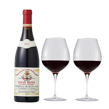 【送料無料】2001年!バックヴィンテージ赤ワインとペアグラスセット