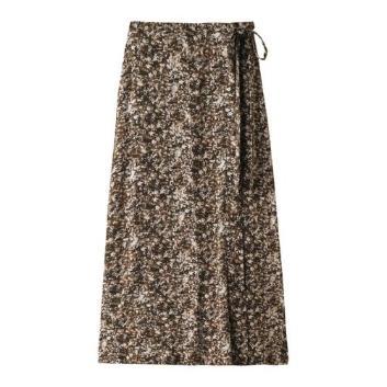 <スリードッツ>【トラベルライン】 side button skirt