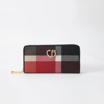 <ブルーレーベル・クレストブリッジ>クレストブリッジチェックPVC長財布