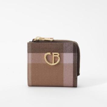 <ブルーレーベル・クレストブリッジ>クレストブリッジチェック二つ折り財布