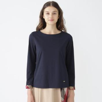 <ブルーレーベル・クレストブリッジ>コットンポリエステルシルケットロングTシャツ