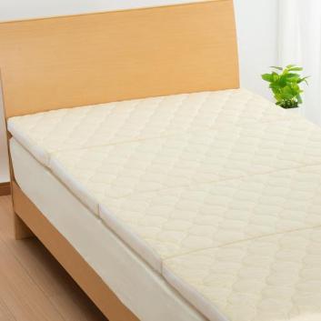 <西川>スリープコンフィ ハードタイプ 4つ折り敷き布団(シングル)※大型送料込み価格