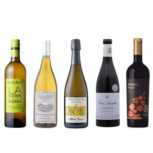 【送料無料】A-styleソムリエが選んだ、冬の味覚、食卓に合うふくよかでリッチなワイン5本セット