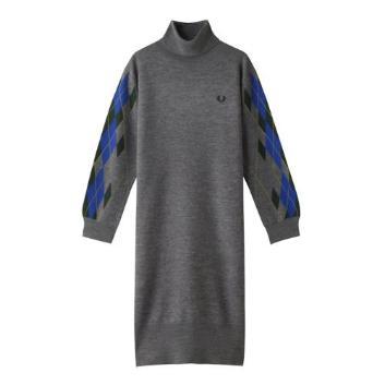 <フレッドペリー>ARGYLE KNIT DRESS
