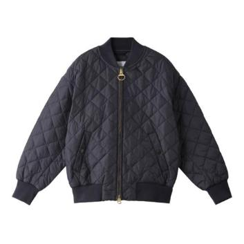 <バブアー>QUILTED BOMBER JACKET OS NYLON