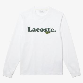 <ラコステ>ニューアイコンネームプリントロングスリーブTシャツ
