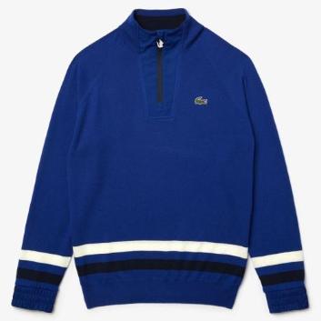<ラコステ>LACOSTE SPORT Coolmax(R)  ハーフジップウールゴルフセーター