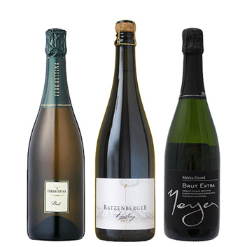 【送料無料】A-styleソムリエが選んだ、ヨーロッパのエレガントなスパークリングワイン3本セット