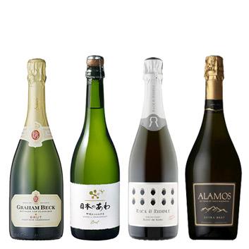 【送料無料】A-styleソムリエが選んだ、ニューワールドのフレッシュなスパークリングワイン4本セット
