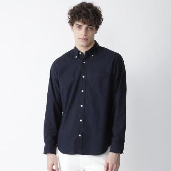 <ブラックレーベル・クレストブリッジ>スーピマコットンオックスボタンダウンシャツ
