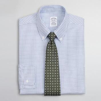 <ブルックス ブラザーズ>スーピマコットン オックスフォード ミニタッターソール ポロボタンダウン ドレスシャツ Regent Fit