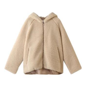 <スリードッツ>Fake fur hooded boulson