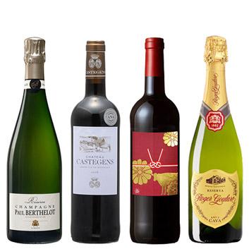 ★福袋限定★ 機内ワインと干支ラベルのワインが入った、新年満喫セット